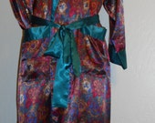 Sexy! Wear Nude! Mens - or Womens - VICTORIA'S SECRET Number 1 London Satin Robe sz S/M Full Length Steampunk Victorian