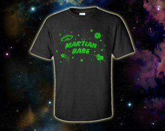 MARTIAN BABE Space Galaxy Uchuu Kei UFO Alien Unisex T-Shirt - Hand Printed to Order