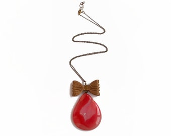 Agate  Necklace, Geode Slice Necklace, Orange Stone Necklace