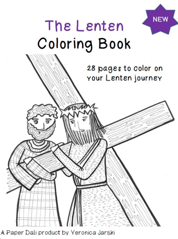 The Lenten Coloring Book Printable by paperdali on Etsy