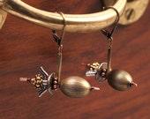 Steampunk Earrings - Airship Earrings - Zeppelin Earrings - Steam Punk Earrings