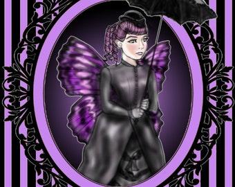 """Signed 8 x 10 print """"violet noir"""""""