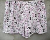 Furry Friends Cat Flannel Boxer Shorts Waist 36 to 42