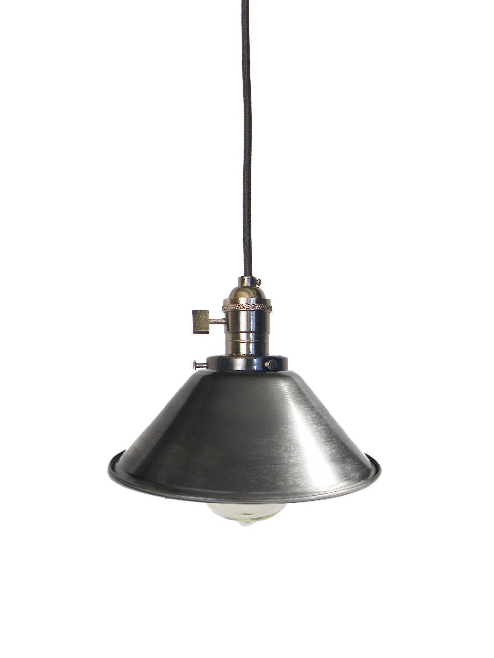 steel cone shade pendant lighting mix and match any hardware
