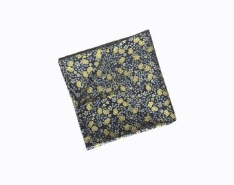 Mason - Navy/Yellow Floral Pocket Square