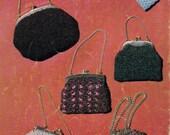 Myart Book 12 Knitting & Crochet Patterns booklet Vintage 60s Purses Handbags Clutch Evening Tops Patterns 17 styles ORIGINAL NOT PDF
