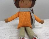 Lloyd, handmade doll, boy gift, birthday gift, rag doll, African American doll, Christmas gift boy