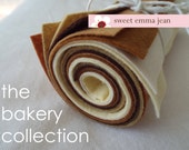 9x12 Wool Felt Sheets - The Bakery Collection - 8 Colors Perfect for Making Felt Play Food