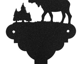 Moose Wildlife Metal Coat Holder Holder