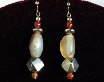 Golden Carnelian and Agate dangles