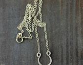 Tiny Gold Horseshoe Necklace, Silver Horseshoe Necklace, Lucky Necklace