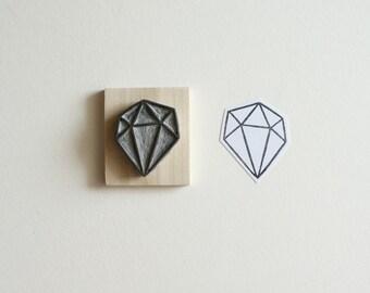 Crystal Configuration 22 - Hand Carved Stamp