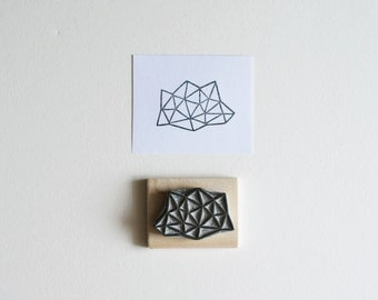 Crystal Configuration 15 - Hand Carved Stamp