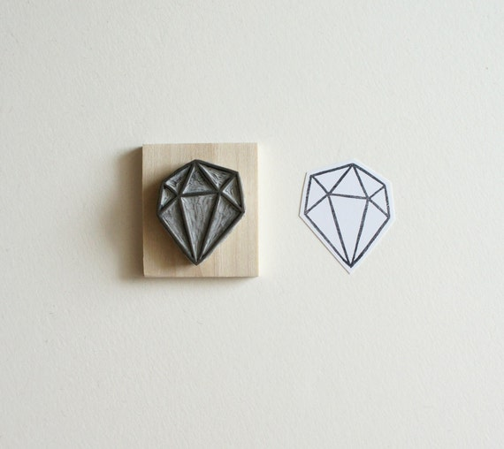 Crystal Configuration 22 - Hand Carved Stamp