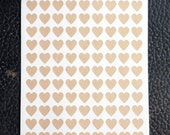 "108- Blank Heart Stickers- 1 Sheet  Hearts measure 0.75"" x 0.75"""