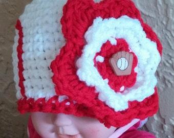 Crochet Baseball Beanie