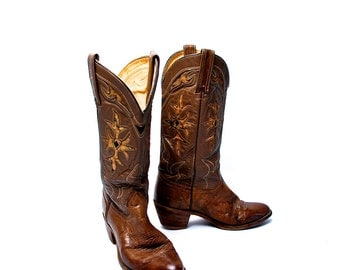 Detailed and Beautiful Women's Cowboy Boots by Capezio West, Size 8M