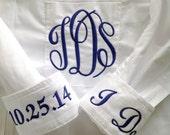 Monogrammed Oxford Bridal Shirt For Wedding Day