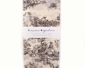 24 sheets of Tissue Paper French Countryside TOILE - Vanilla Cream 15 x 20 inch Tissue Paper for Packaging, Weddings and Gift Wrapping