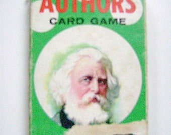 """Vintage 1950's  CHILDRENS PLAYING Cards- """"AUTHORS"""""""