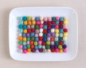 Felt Balls 1cm // Extra Small Felt Balls // Pom Poms, Felt Beads, Wool Felt Balls, Felted Balls, Tiny Felt Balls, Colorful Craft Supply