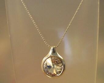 Swarovski Crystal Necklace, Swarovski Necklace, Crystal Necklace, Silver, Necklace, Bridesmaid, Swarovski, Crystal, Pendant, Drop, Dangle