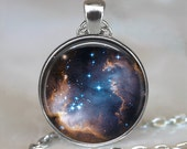 Star Cradle pendant, galaxy pendant, star jewelry, stargazer gift astronomer's gif, star pendant Hubble photo pendant keychain key chain