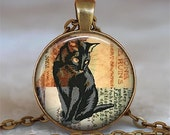 Black Cat Collage pendant, black cat necklace, cat pendant cat jewelry cat lover necklace cat lover gift keychain key chain