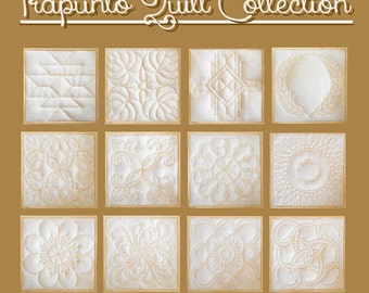 Trapunto Quilt Collection- Machine Embroidery Designs