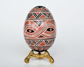 Trypillian designs ~ Pysanka Ukrainian Easter egg hand painted chicken egg shell ~ Cucuteni vilages art ~ aincent vikings designs symbols