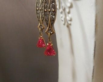 Lady Rose - Downton Abbey Jewelry - Flapper Earrings - Art Deco Jewelry - 1920s Earrings - Miss Fisher - Art Nouveau Earrings