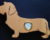 Wire Haired Dachshund Clock