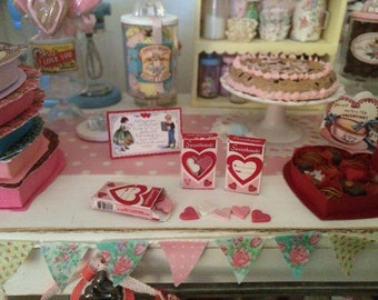 SWEETHEARTS CANDY HEARTS  - 1:6 Scale Miniature