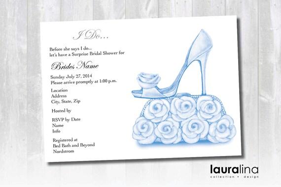 Items similar to Printable Bridal Shower Invitation Shoe Purse – Shoe Party Invitations