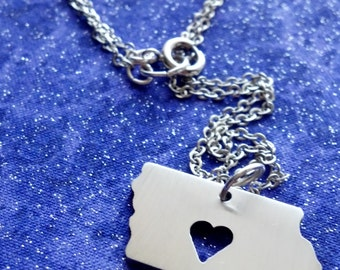 I Heart Iowa - Necklace Pendant or Keychain