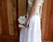 RESERVED, Antiqued Bridal Camisole, OOAK Bridal Camisole, Designer Original, Downton Abbey