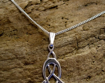 Celtic Necklace, Art Nouveau Pendant, Celtic Pendant, Art Nouveau Necklace, Silver, Handmade, Celtic knot jewellery, Art Nouveau Jewellery.
