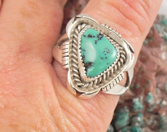 High End Turquoise Sterling  Ring