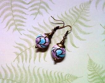 Lavender and Light Blue Earrings (1705)