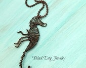 Wire Wrap Seahorse Necklace - Nautical Jewelry - Vacation Jewelry - Seahorse Jewelry - Beach Chic - Sea Life Necklace - Gifts For Her