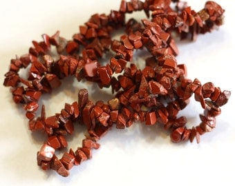 1 strand Red Jasper Chip Bead - full 36 inch strand - Gemstone chip Beads - 3mm-7mm
