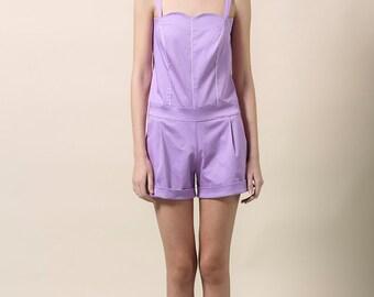 Sale, Womens jumpsuit, purple jumpsuit, playsuit, womens romper, purple romper, elegant jumpsuit, overalls, summer jumpsuit, womens overalls