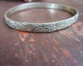Sterling Silver Taxco Mexican Bangle Bracelet