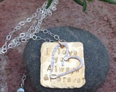 I LOVE you always & forever necklace. ANNNIVERSARY jewelry. PERSONALIZED. custom quote. New mothers, new baby, baby shower present