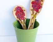 Personalized Wooden Spoon/ Decoraed Wooden Salad Spoons/ Monogramed Spoons