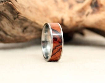 Arizona Desert Ironwood Wood Ring Lined With Titanium