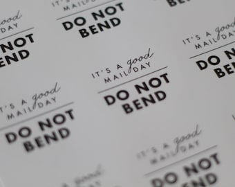 """DO NOT BEND stickers // do not bend // shipping labels // 2""""round stickers // 100 Stickers // 100 do not bend stickers //"""