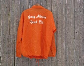 Vintage Sunny Atlantic Beach Club Jacket Mens Large