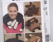McCall's M5128 - Plush Pets and Pillows - Cat and Dog - UNCUT