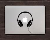 Headphones Vinyl MacBook Decal BAS-0145